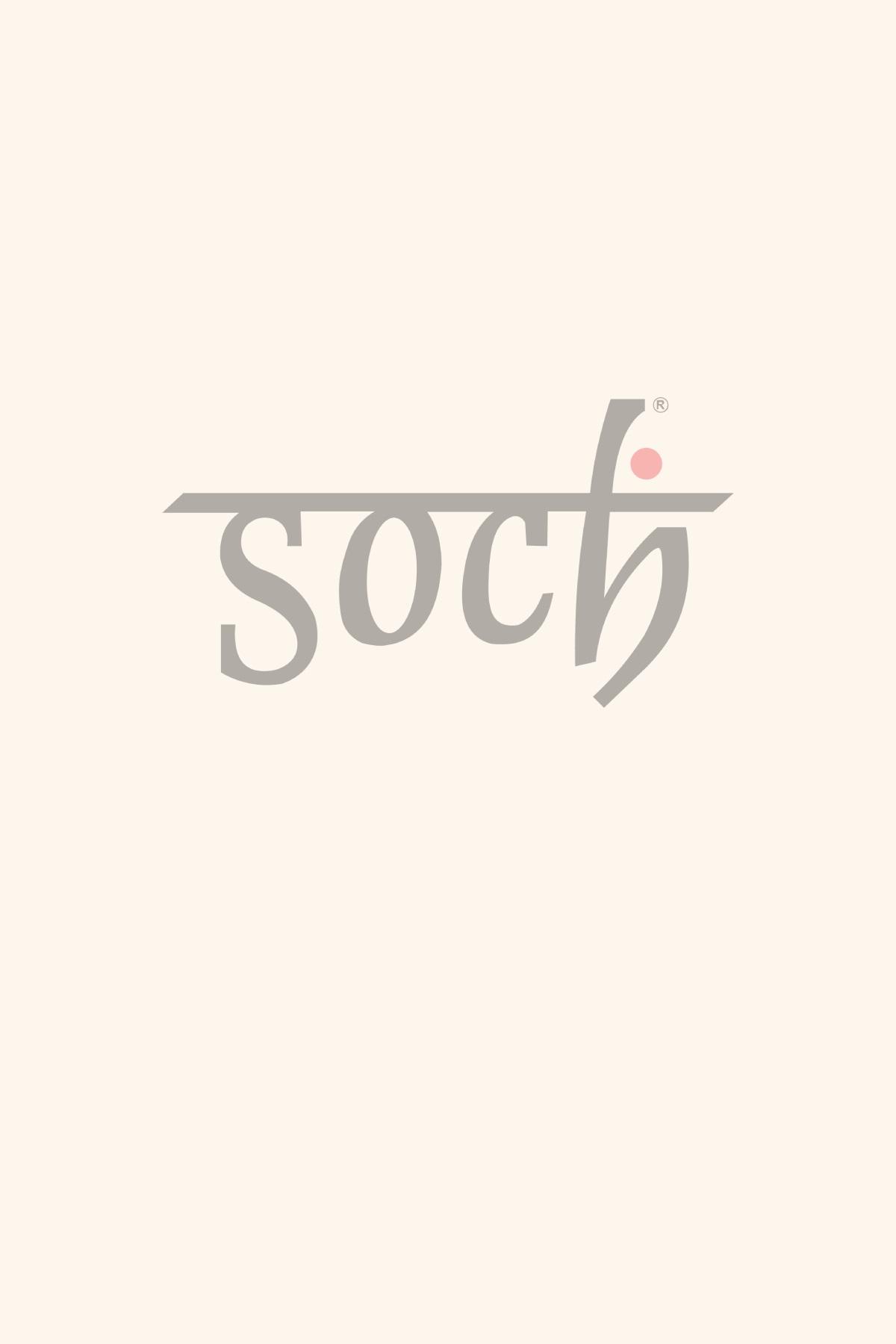 Buy Soch Orange Embroidery Silk Saree Online